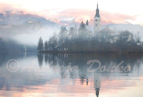 Inspiration  the Bled island church at by CraftsAndPhotography