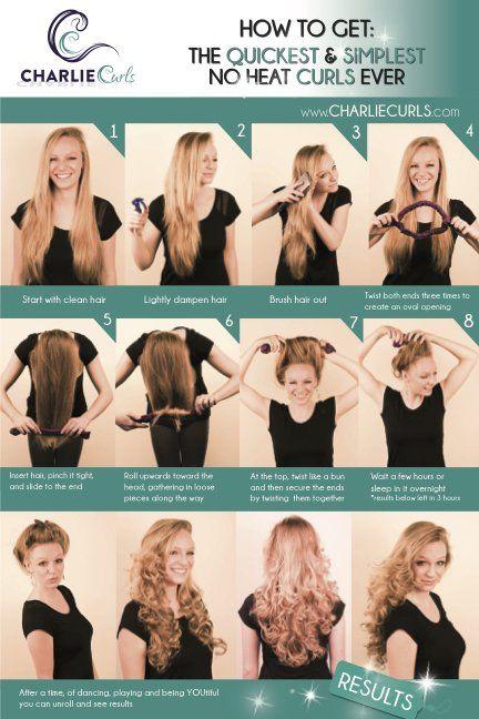 Easiest Heatless Curls Hair Waves Hair Styles Curl Hair Overnight