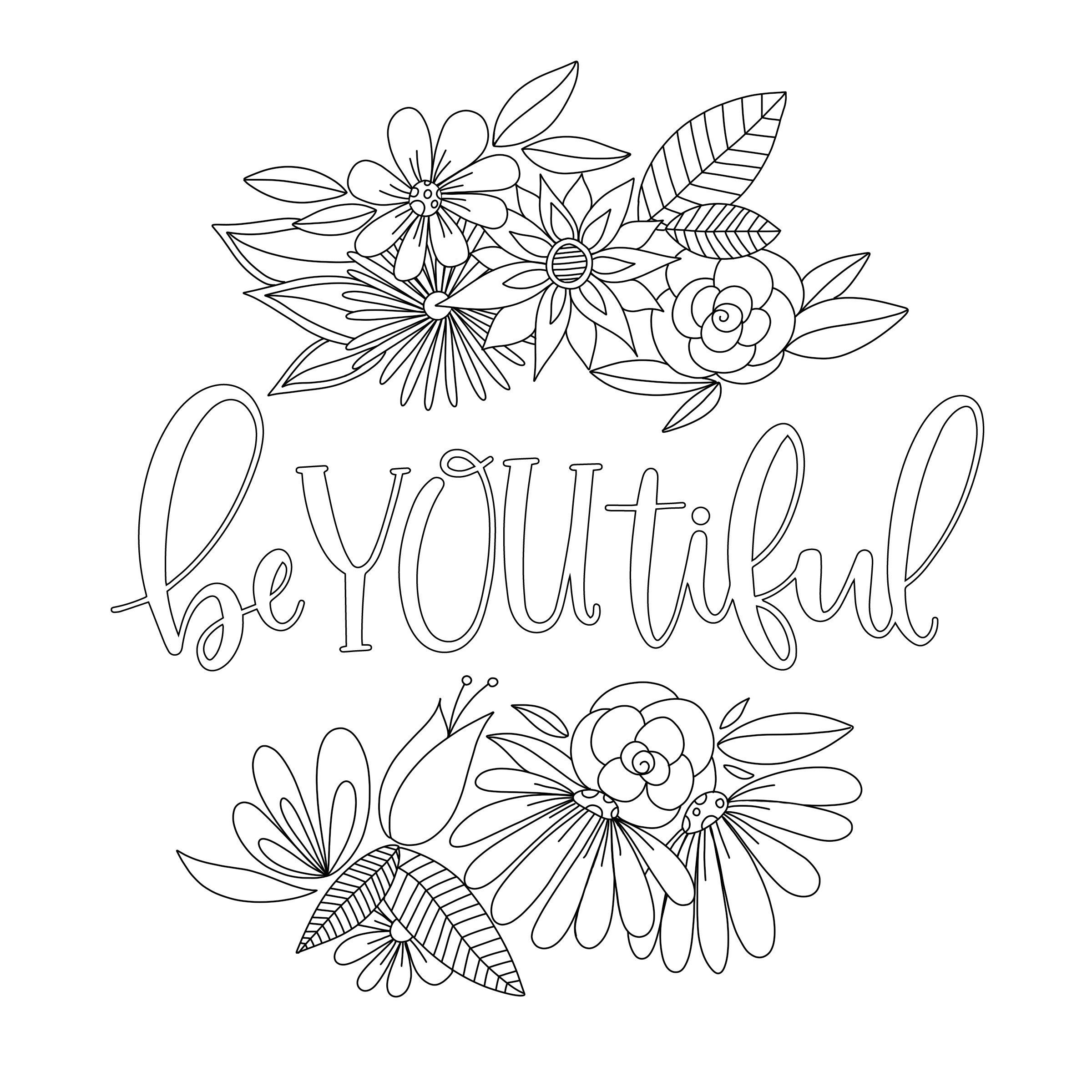 3 Motivational Printable Coloring Pages Zentangle Coloring