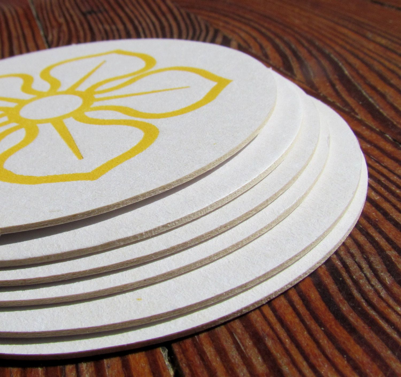 magnolia letterpress coasters