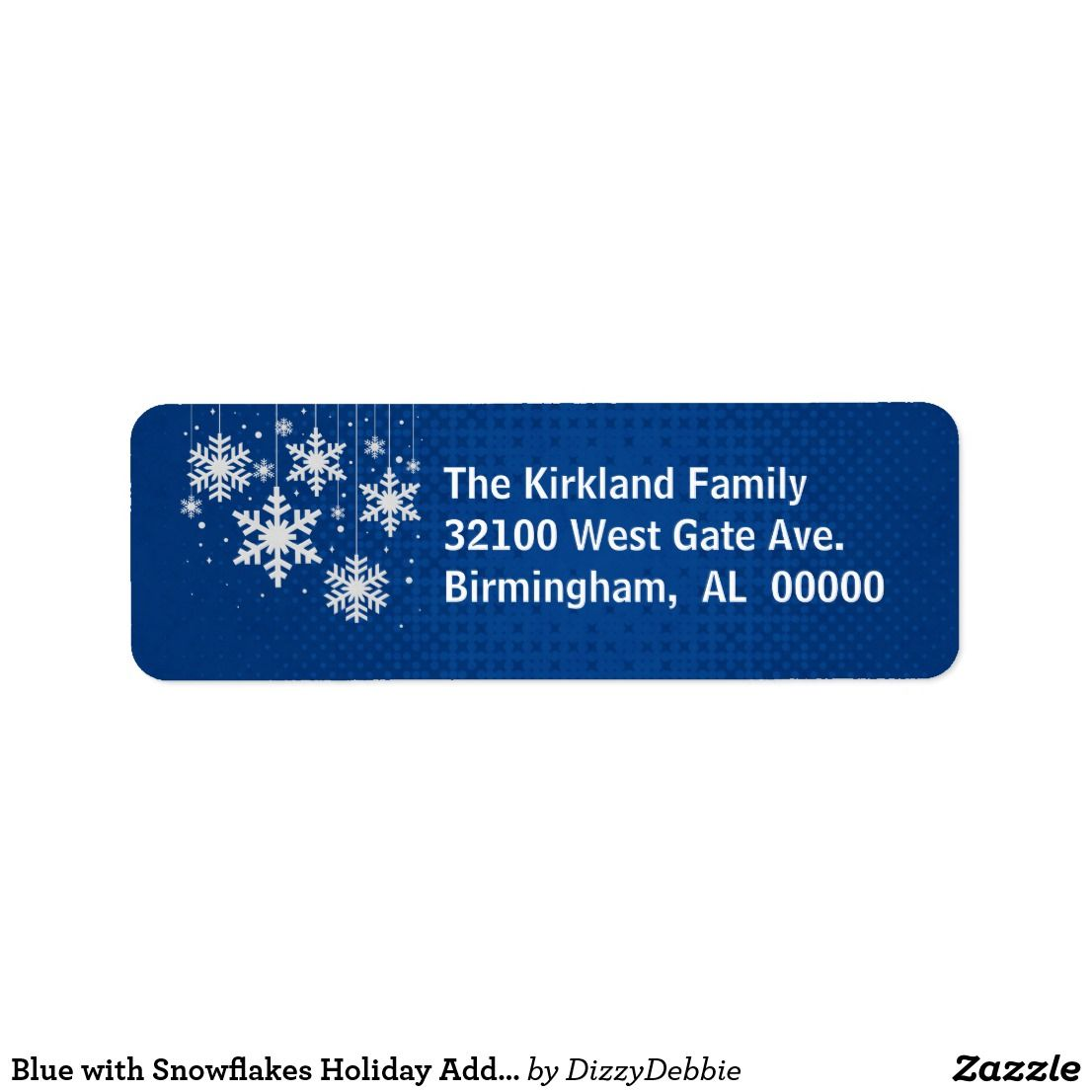 blue with snowflakes holiday address labels nice looking christmas