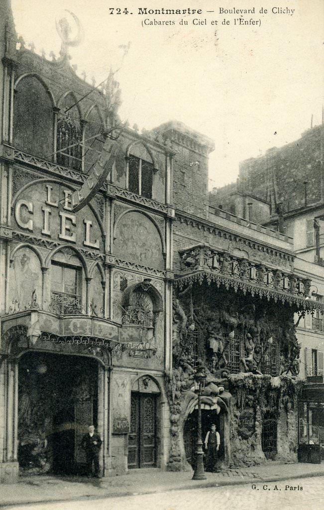 Paris Cabaret De L 39 Enfer Paris Xviiie Arr Cartes