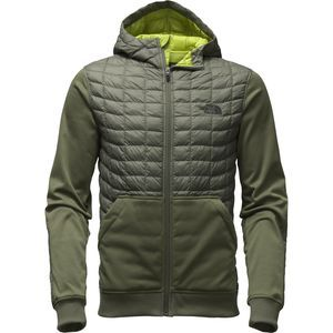 Have your cake and eat it too with The North Face Men's Kilowatt Thermoball Insulated Jacket. This innovative jacket has a fleece body along with an insulated, weather-resistant panel at the chest, shoulders, and hood to give you a boost of warmth on cool-weather hikes.  ThermoBall insulation throughout the core, shoulders, and hood offers lightweight warmth and compressibility comparable to down, along with the wet-weather insulating performance of synthetics. This section of the jacket is…