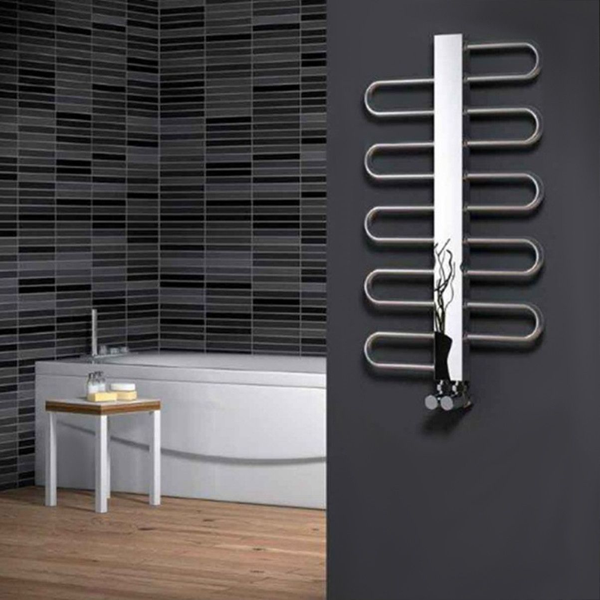 The Reina Dynamic Heated Towel Rail boasts