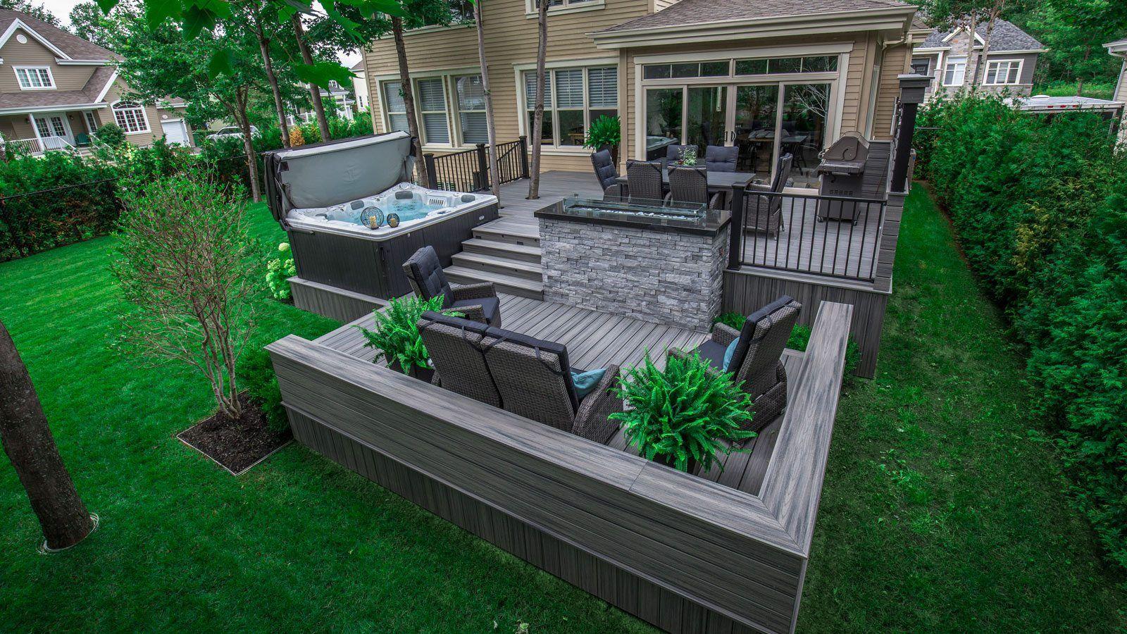 L 39 ajout d 39 une terrasse multiples paliers permet de - Amenagement terrasse et jardin photo ...