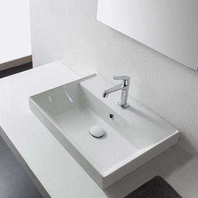 Scarabeo By Nameeks Teorema Ceramic Rectangular Vessel Bathroom