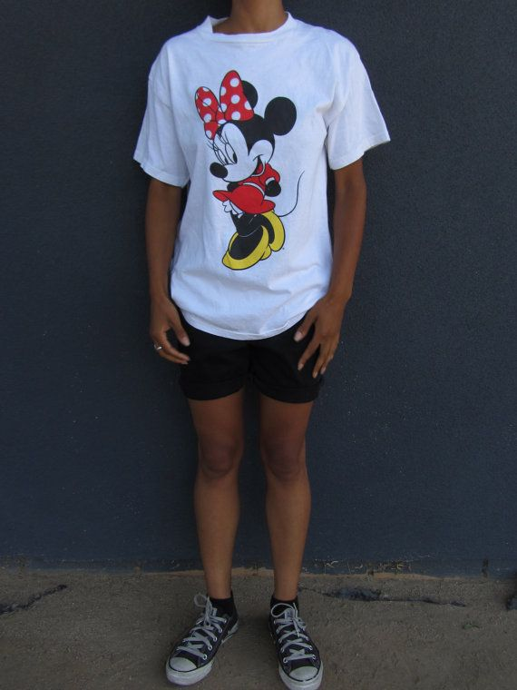 ead41bd0ac6389 Vintage Minnie Mouse T-Shirt   90 s   Disney   Short Sleeve   Retro Tee    Womens…