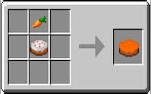 Carrot Cake Crafts Minecraft Food Minecraft