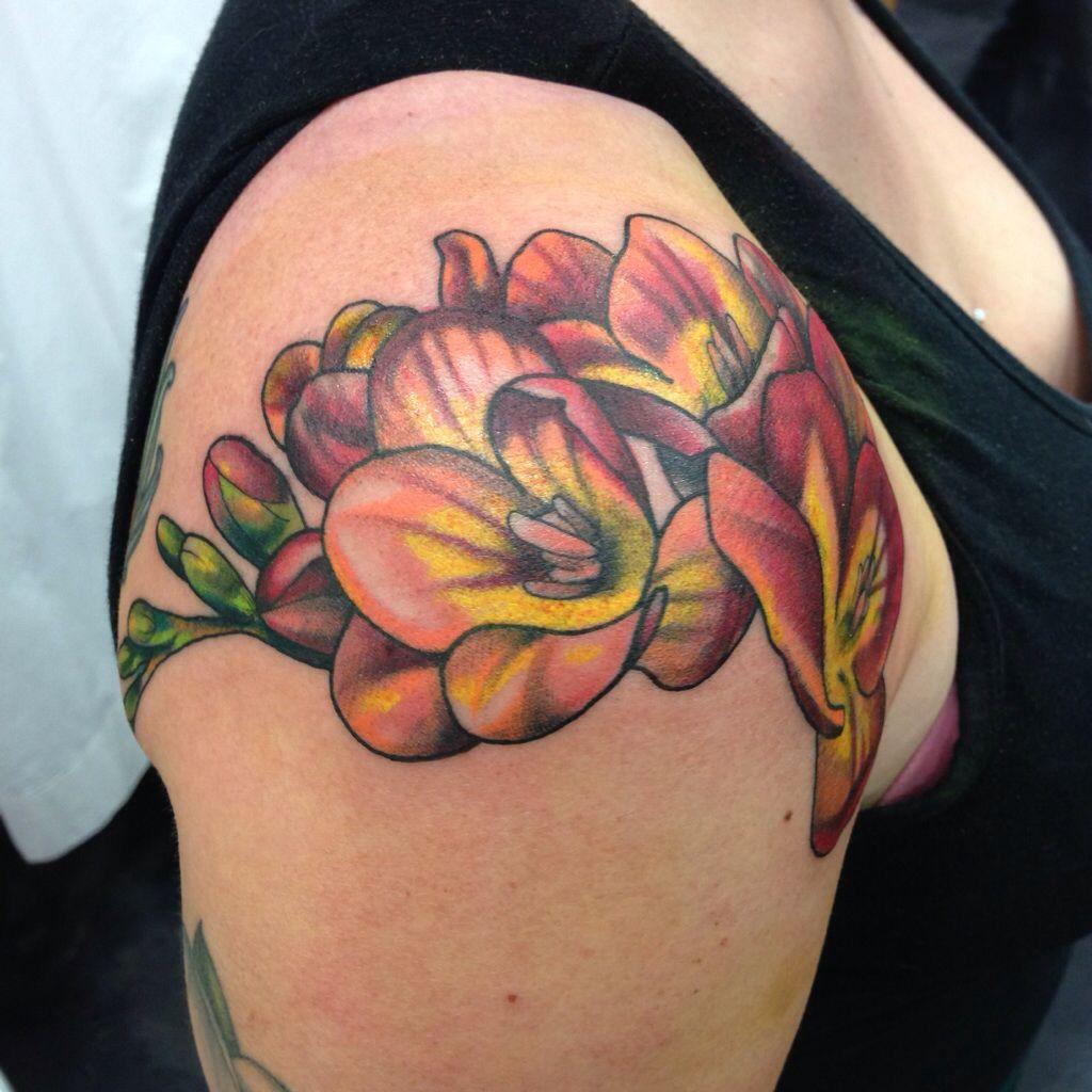 f75ddb5f2be7b Freesia tattoo by Kohen at Dogstar Tattoo Company in Durham, NC ...