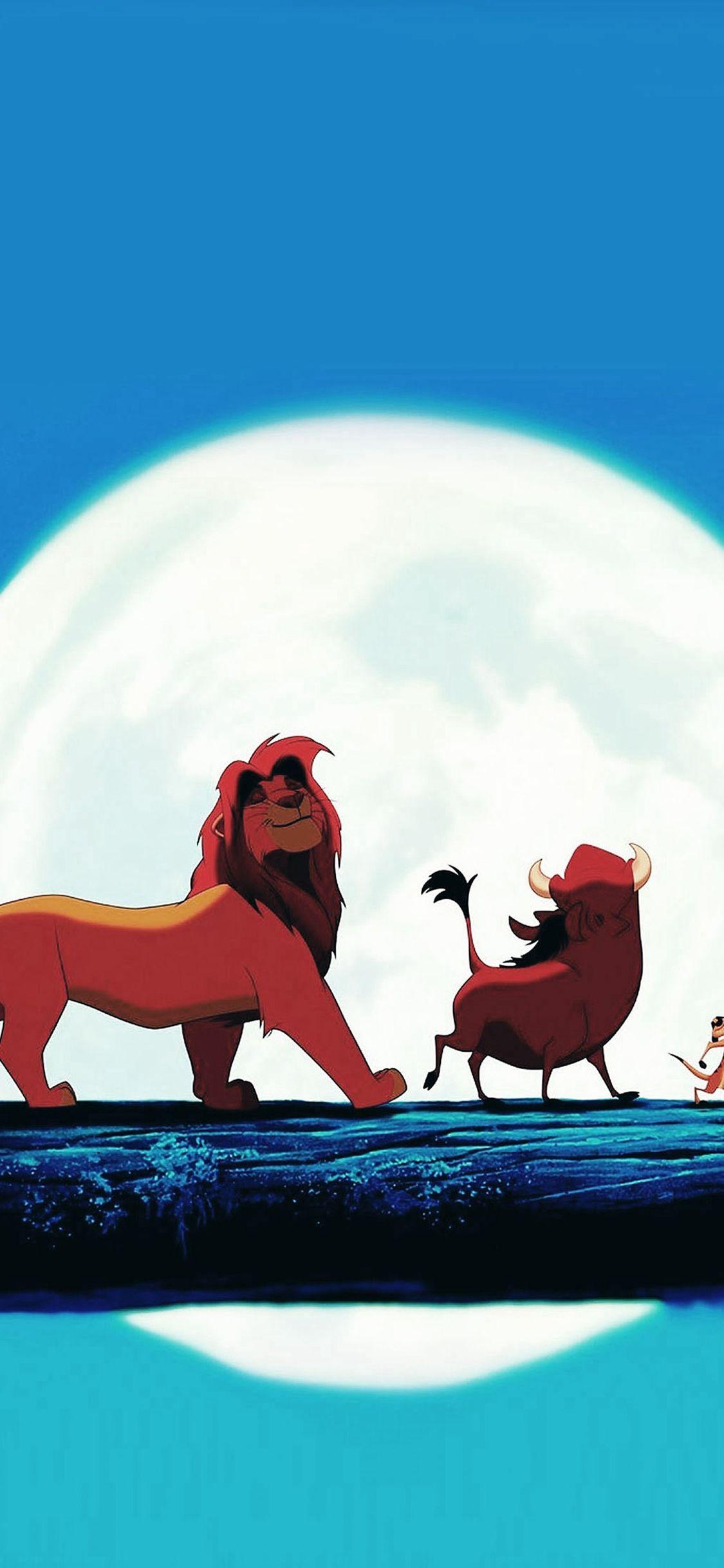 Hakuna Matata Disney Lionking Illust Art iPhone X wallpaper