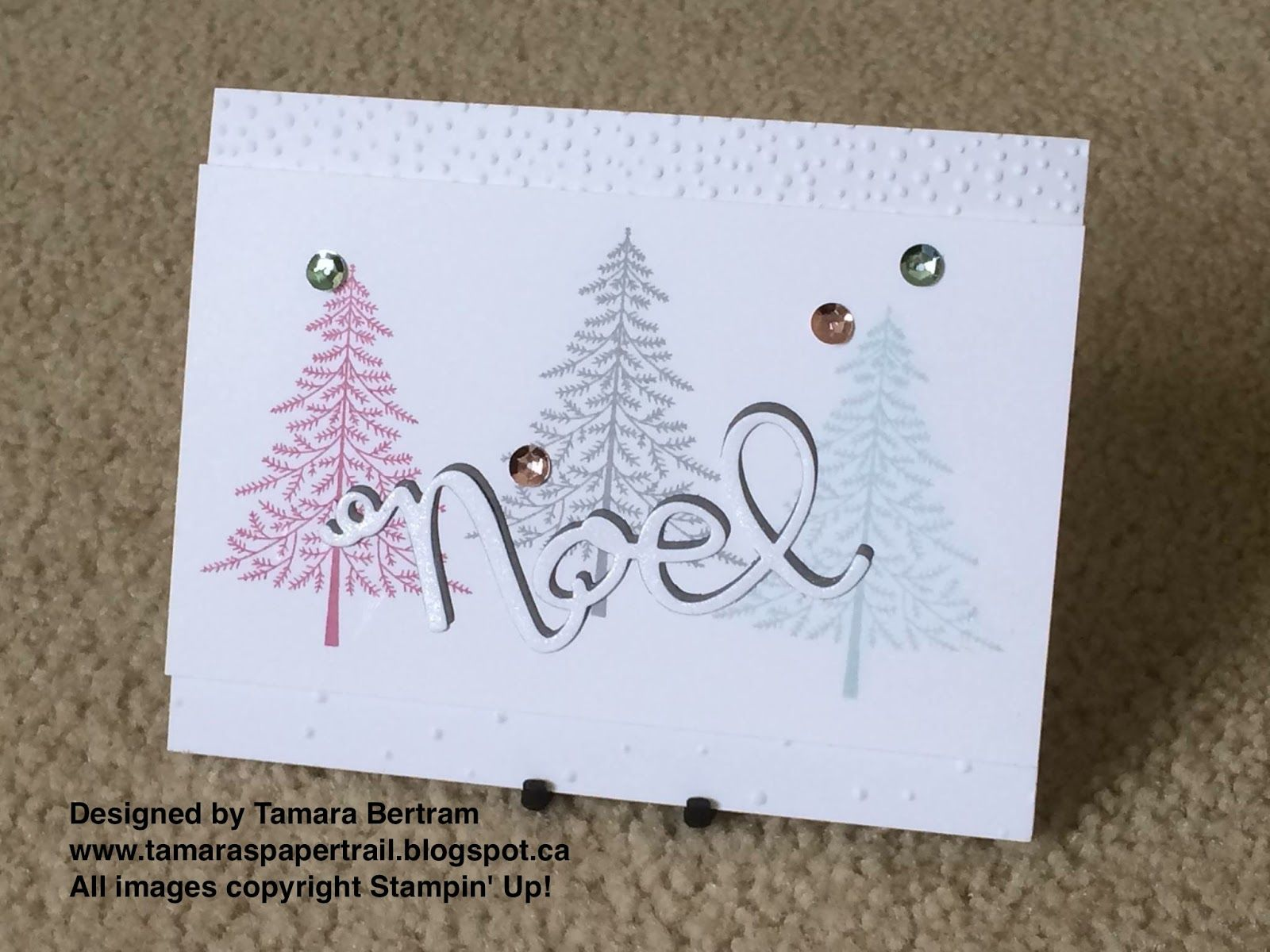 Handmade Christmas Cards Christmas Cards Peaceful Pines Wonderful Wreath Thinlits