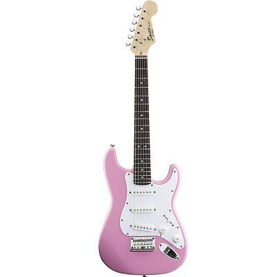 Squier by Fender Mini Stratocaster pink lightest electric guitar