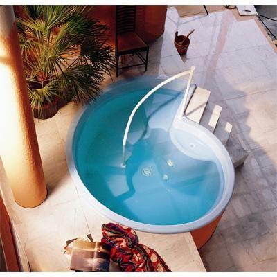 Tauchbecken RONDO Garten Pool Pinterest Garten pool - pool mit glaswand garten