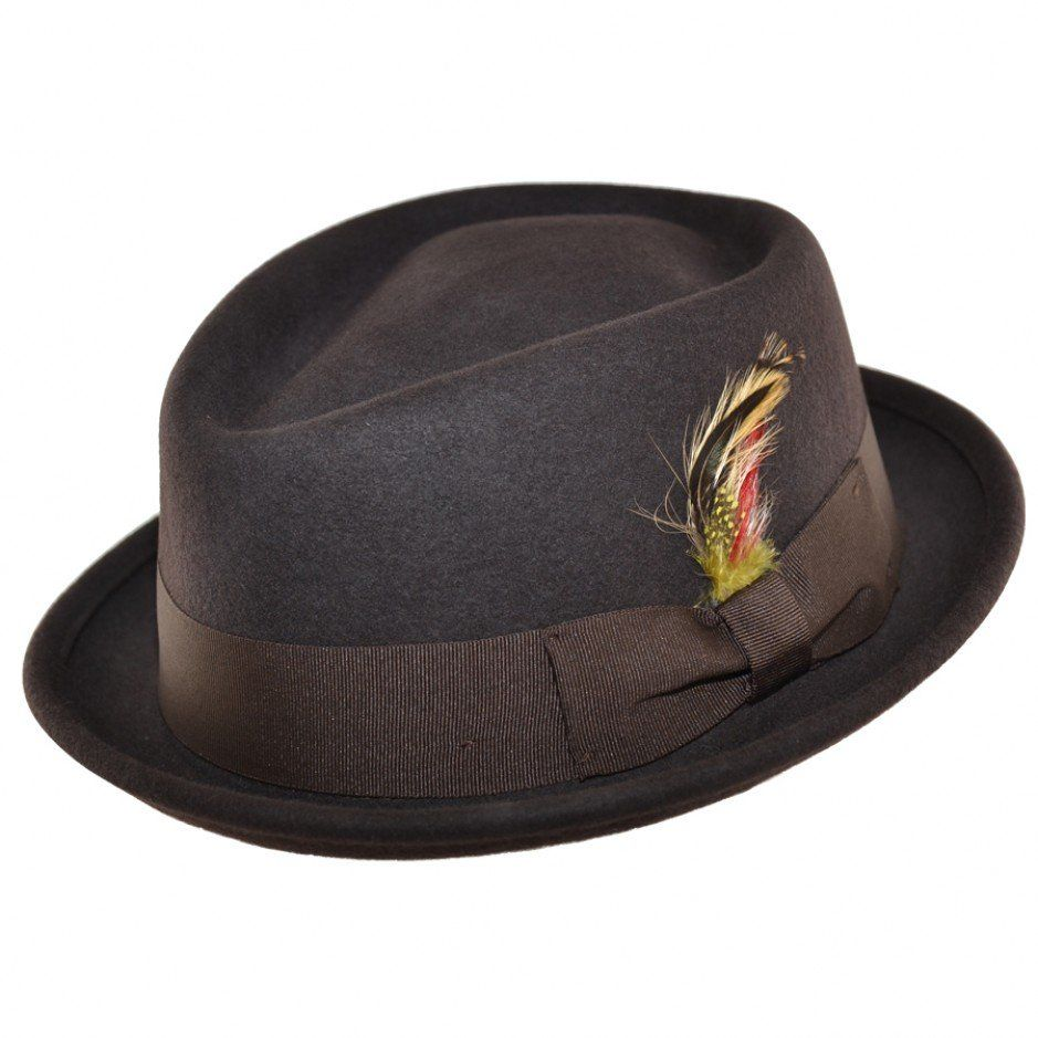 Maz Crushable Wool Felt Diamond Crown Pork Pie Hat 86af5c2b577a