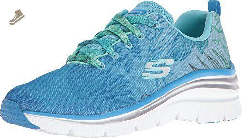Skechers Women's Fashion Fit Garden Parties Sneaker,Blue/Green,US 9 M - Skechers sneakers for women (*Amazon Partner-Link)