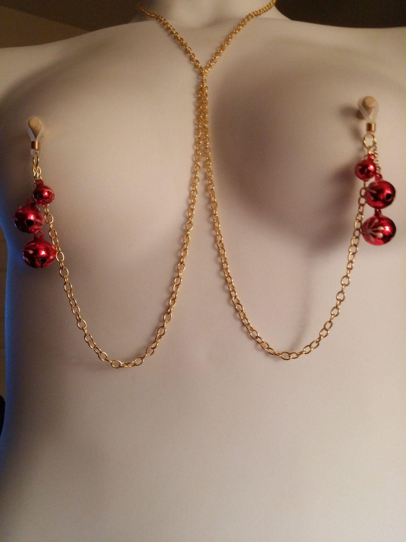 Christmas Nipple Jewelry Necklace -piercing Pierced
