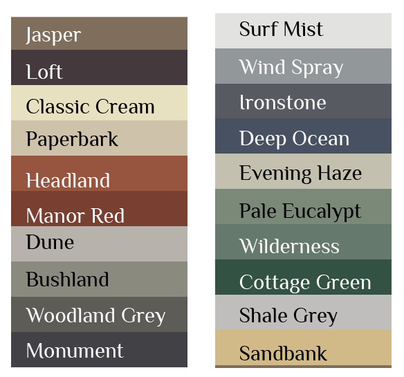 Dulux Paper Bark Colour Roofcolours Exterior House Colors Exterior Color Schemes House Exterior Color Schemes