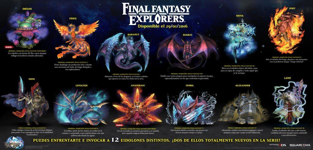 Final Fantasy Explorers Eidolones