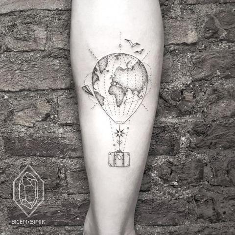 25 tatouages à adopter de toute urgence si vous êtes fans de voyage