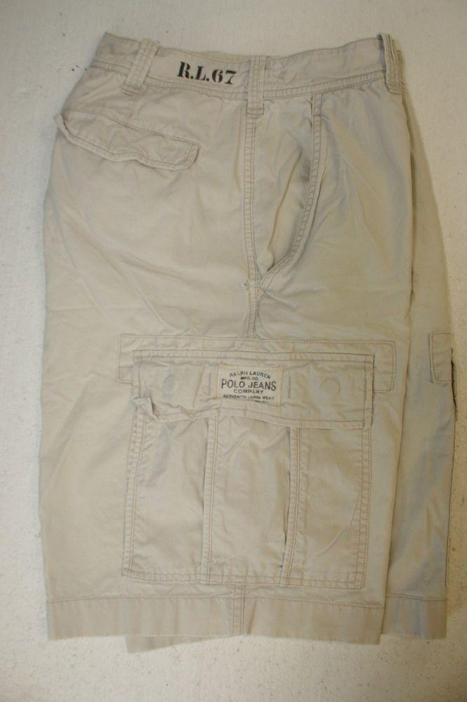 5b488c5e7c Ralph Lauren Polo Jeans Co Bone Daddy Tan RL 67 (Mens 32) Cargo Shorts 2695  #PoloRalphLauren #CargoShorts #MensWear