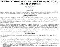 Coaxial Cable Trap Dipole Cable Dipole Antenna Antennas