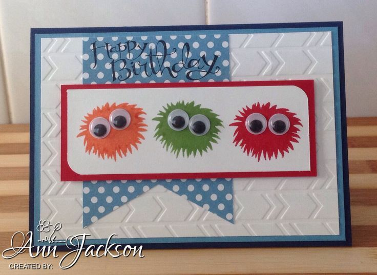 Birthday Card Craft Ideas For Toddlers ~ Stampin up simple stems children s birthday card using stampin