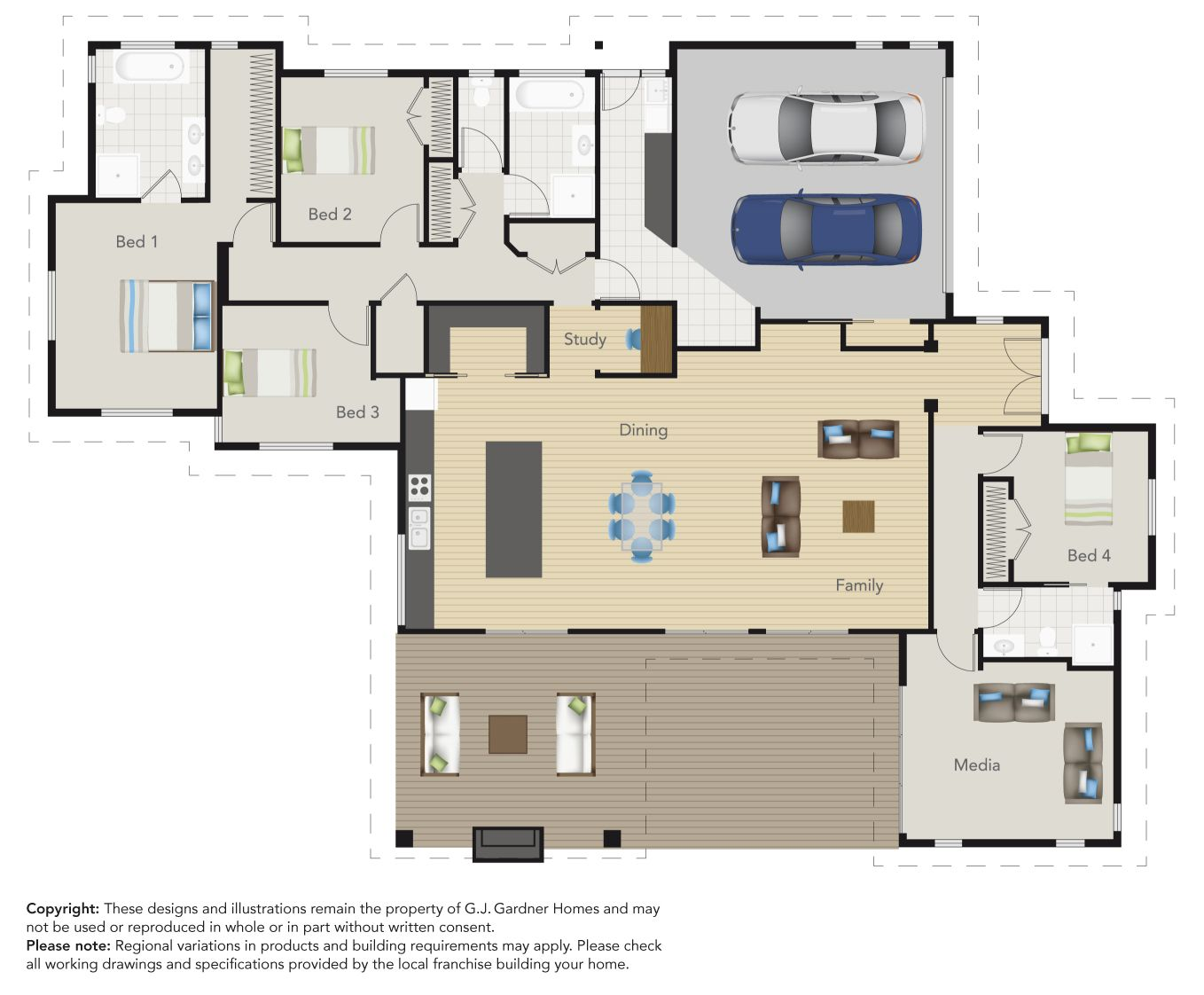 The great floor plan of this Tauranga G.J. Gardner Showhome! Would ...