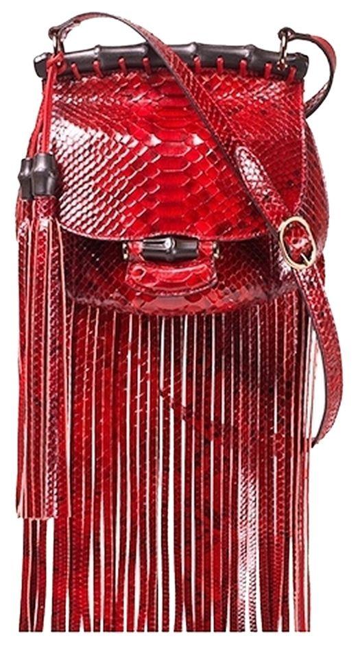5bdab0fda Gucci Python Fringe Snakeskin Shoulder Bag. Love It   My Style ...