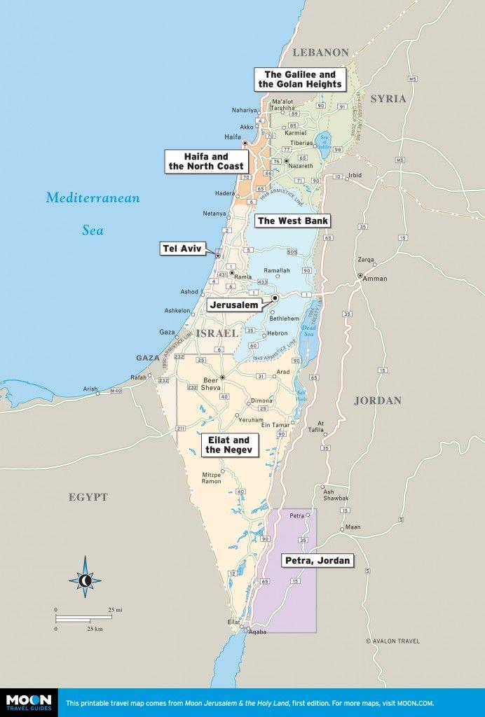 picture regarding Printable Map of Israel known as Israel the West Lender Israel