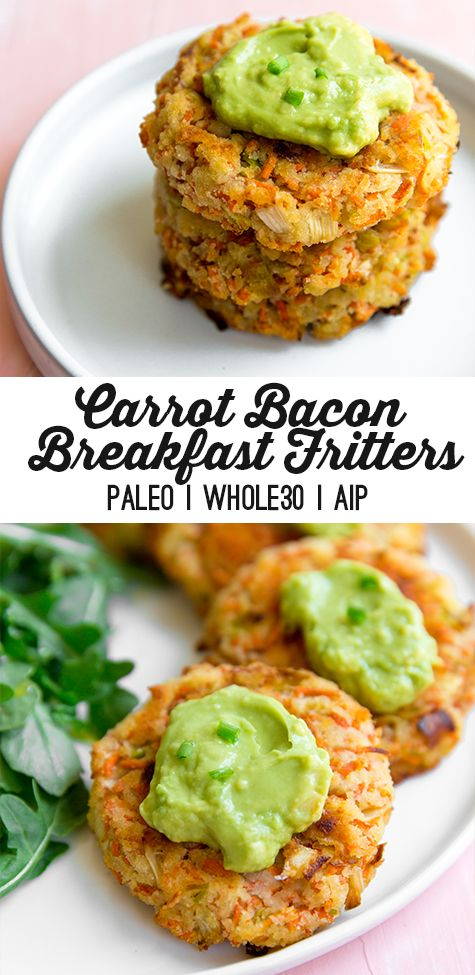 Carrot Bacon Breakfast Fritters Paleo Whole30 Aip Recipe