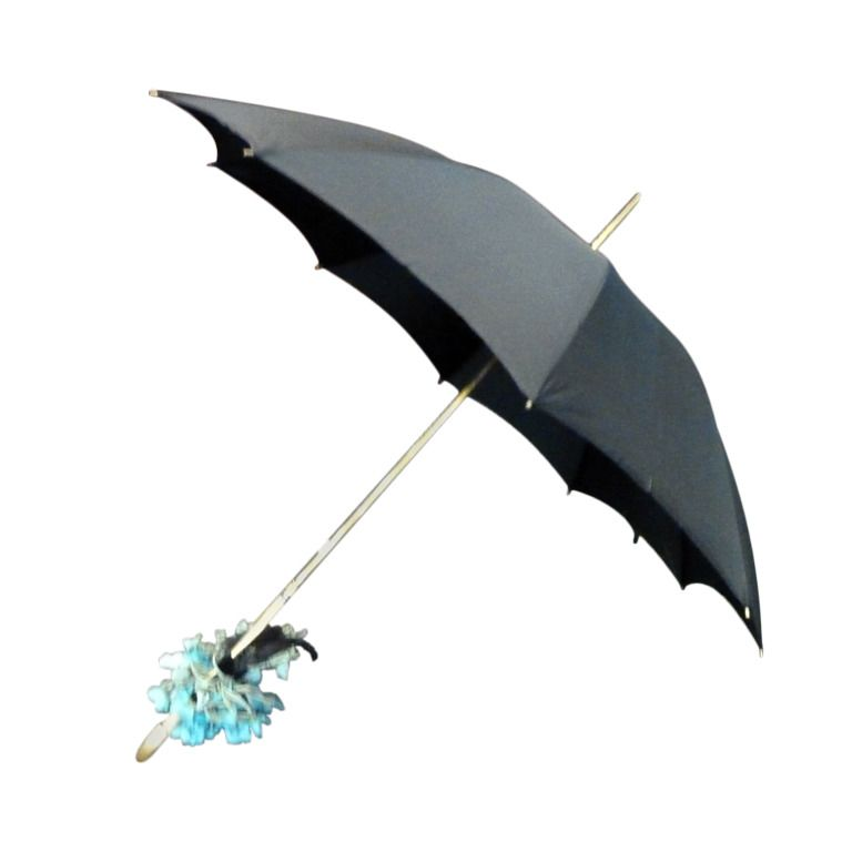 1950s Vintage Belgium Custome Made Beaded Umbrella | From a collection of rare vintage accessories at https://www.1stdibs.com/fashion/accessories/