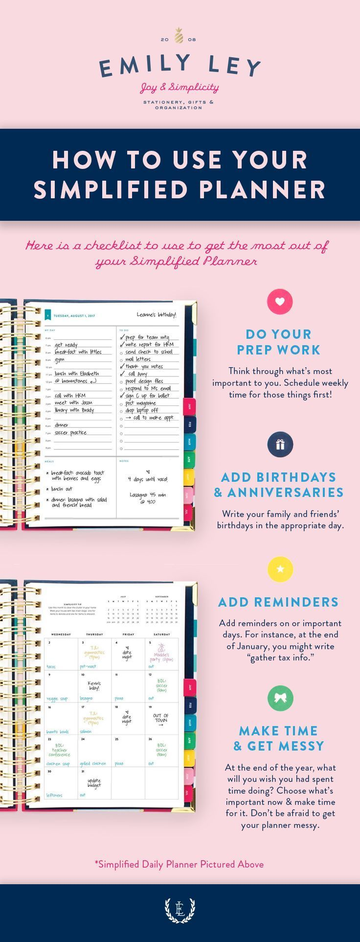 Simple checklist to make the most of your 2018 Planner! Simplified ...