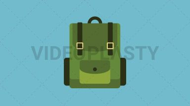 Camping Bag Flat Icon