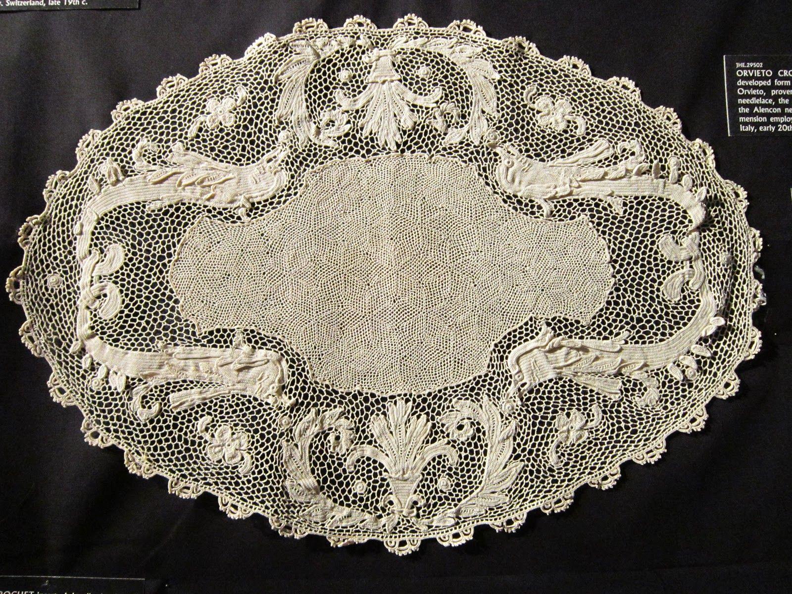 Lavori Antichi All Uncinetto.Orvieto Lace Crochet Merletto Di Orvieto Uncinetto
