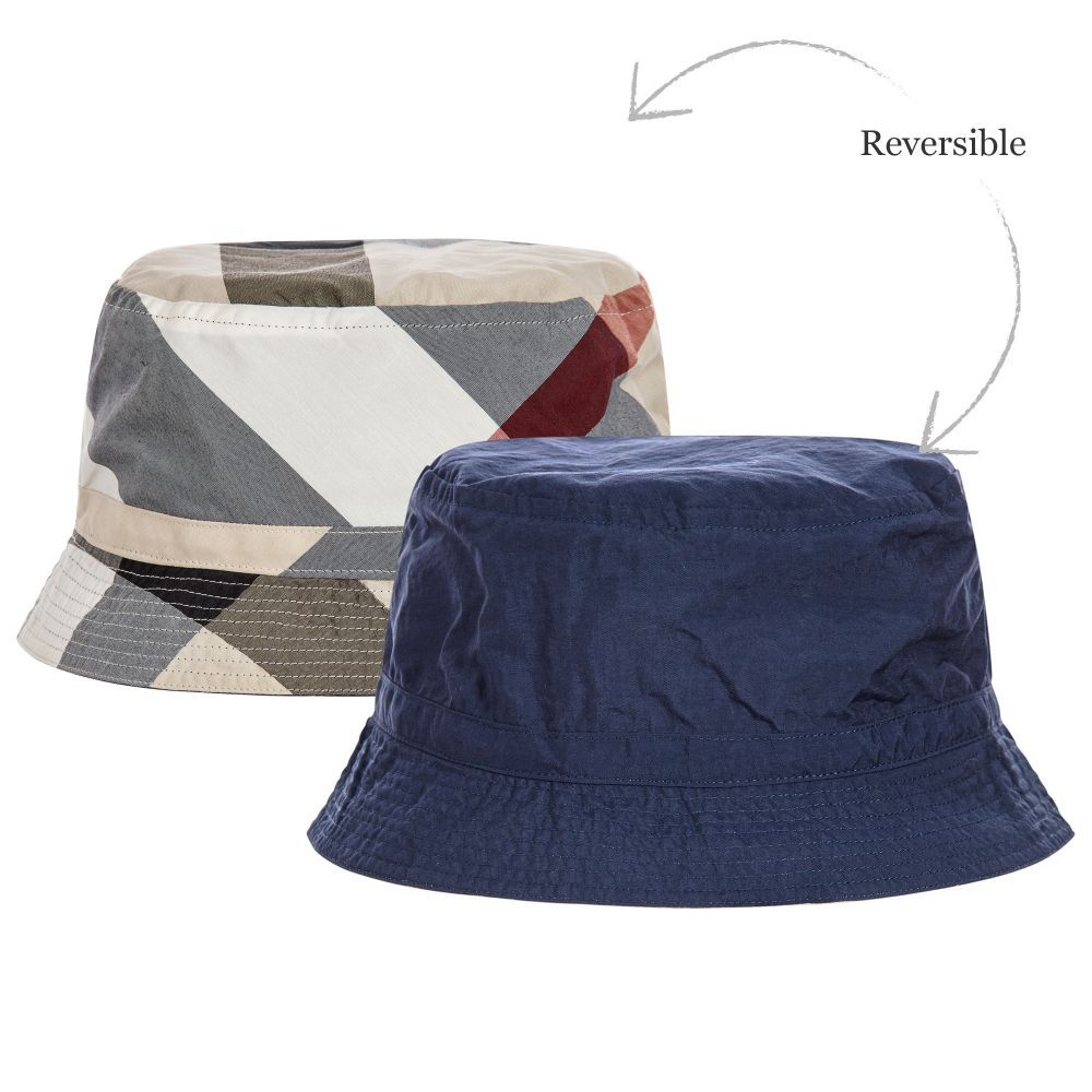 2cfa46786 Burberry - Blue Reversible Sun Hat | Childrensalon | cute baby with ...