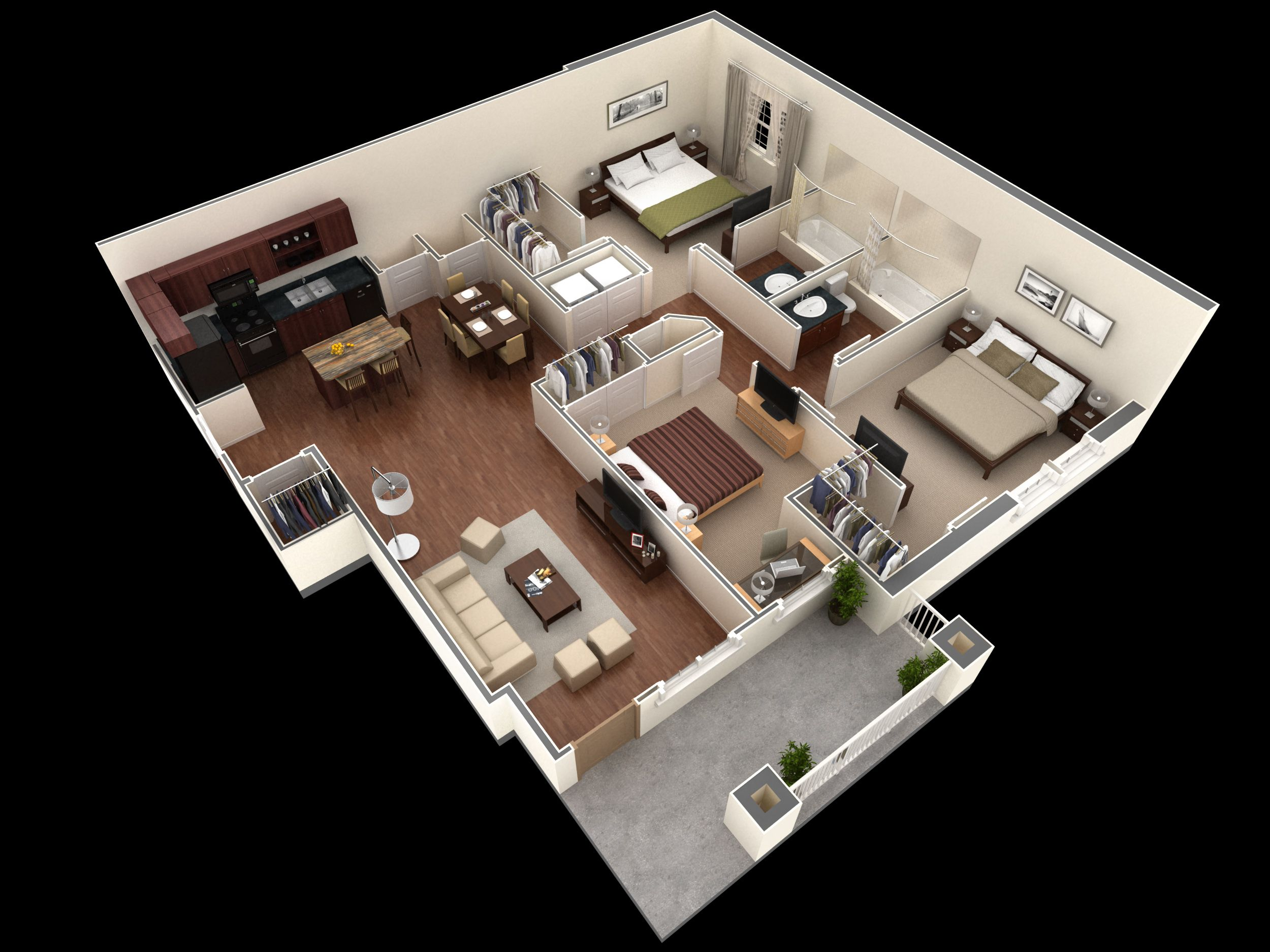 Springs At Greenville New Apartments In Greenville Sc Small House Design Floor Plans Apartment