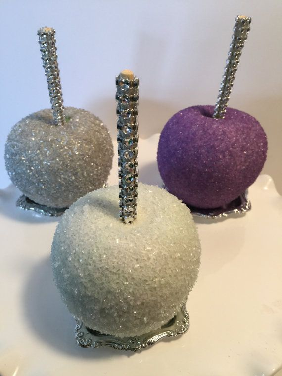 Glamorous sparkly candy apples by KLDesserts on Etsy