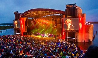 Ridecolorfully To A Concert At Jones Beach Theatre Long Island Ny