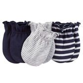 Baby Boys Stay-On Scratch Mitts Stripes ScratchSleeves