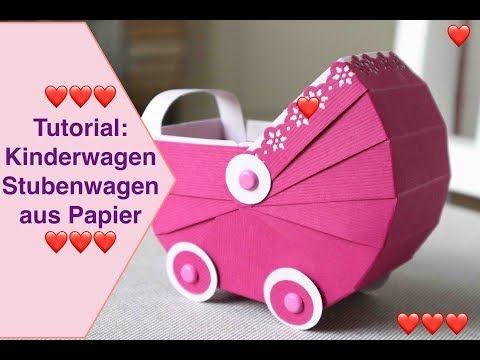 Heute mal ein tutorial kinderwagen stubenwagen aus papier