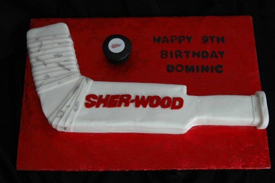 Sherwood Goalie Stick Goalie Stick Hockey Birthday Hockey Cakes