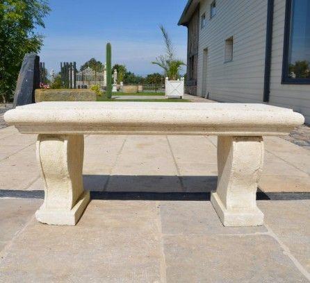 Banc en pierre jardin pinterest bancs pierre et for Banc en pierre pour jardin