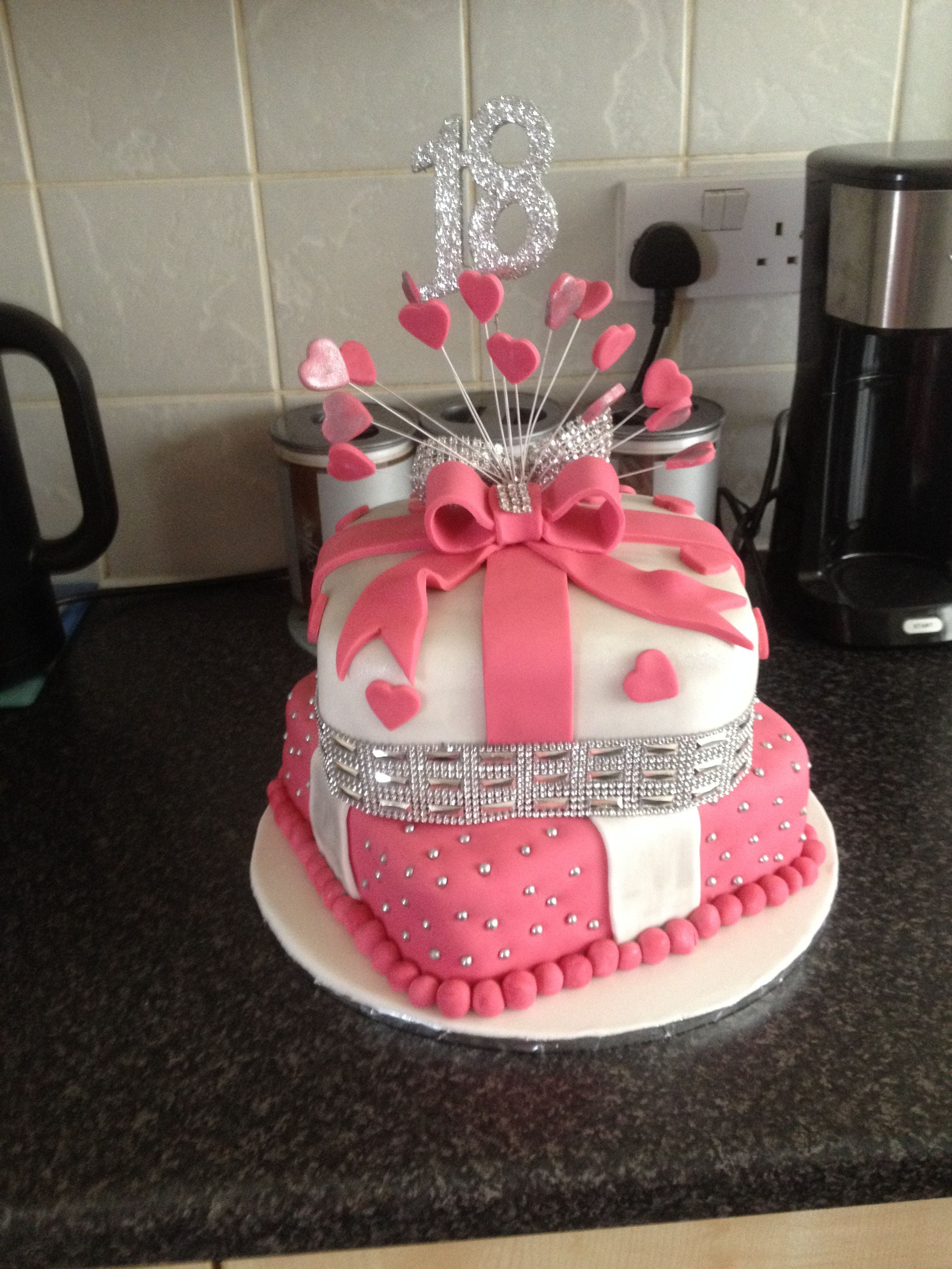 18 th 2 tier cake i made cakes pinterest tiered for 18th birthday cake decoration