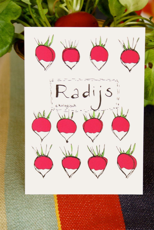 Wish A Veggie Garden Greeting Card Radish With Organic Seeds
