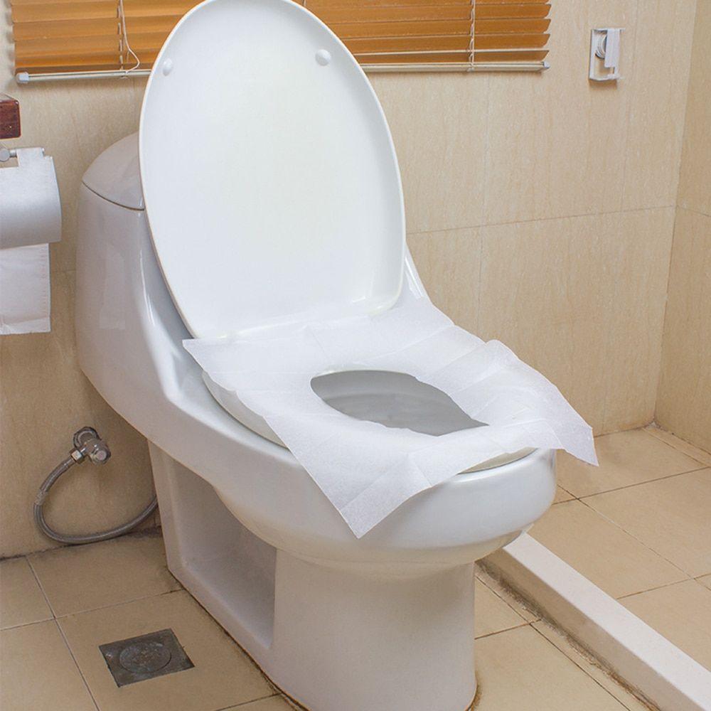 10Pcs Travel Camping Public Toilet Disposable Toilet Seat Cover Mat Waterproof