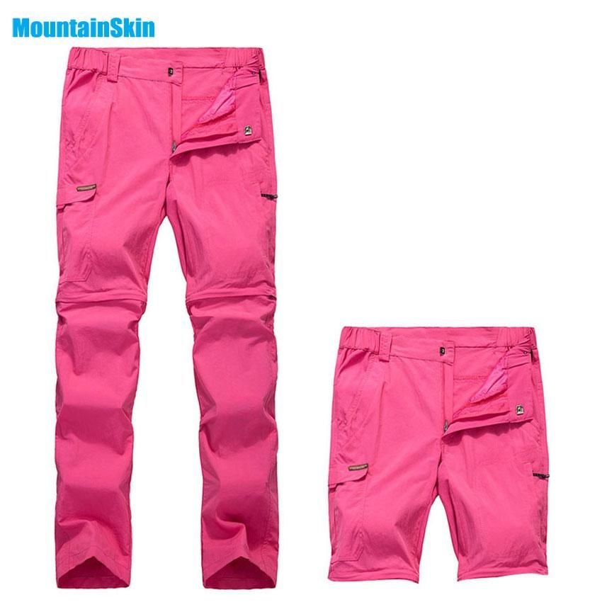 4a147daf978 Mountainskin Women s Summer Quick Drying Breathable Pants Outdoor Removable  Shorts Hiking Camping Trekking Female Trousers MB092