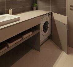 Lavatrice Sotto Lavandino Bagno.Mobile Bagno Con Lavatrice Sotto Piano Nascosta Da Anta A Battente