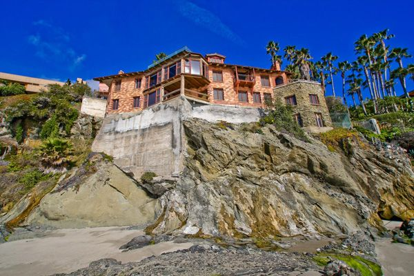 California S House On The Cliff With Private Beach Villa