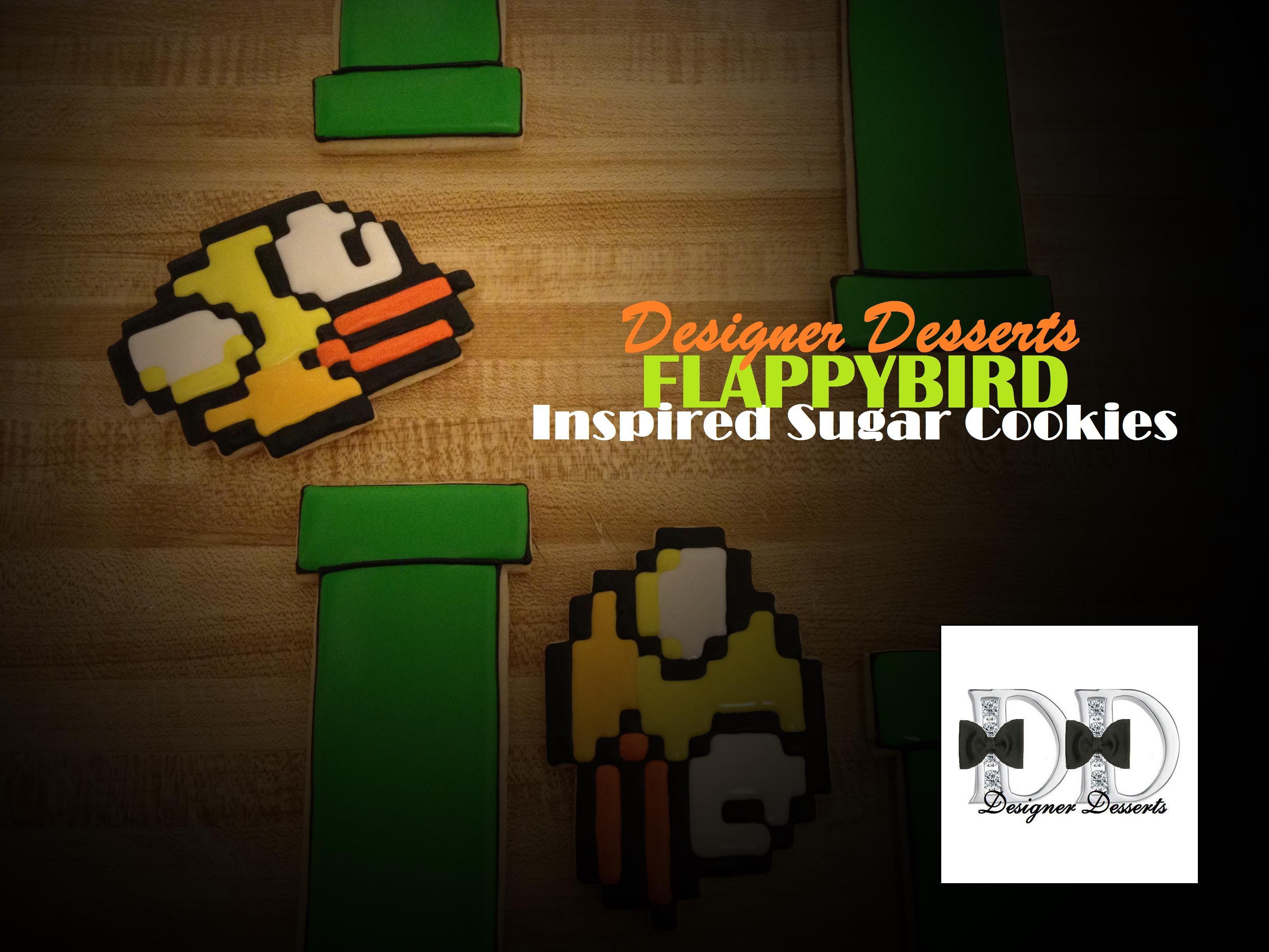Flappy bird inspired sugar cookies by designer desserts