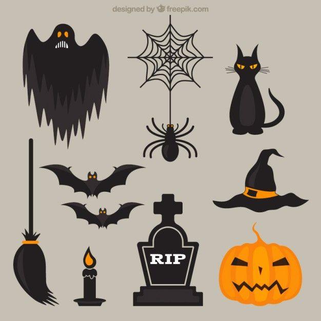 elementos scary halloween ilustrações pinterest halloween